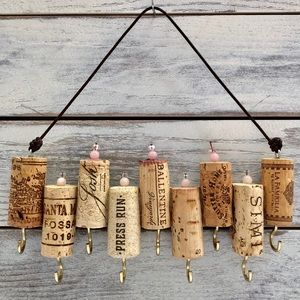 Green Wine Cork Jewelry and Key Organizer